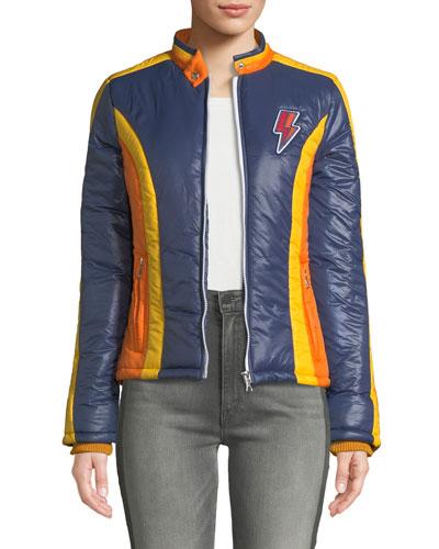 The High Flyer Zip-Front Puffer Jacket