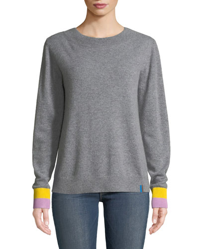 The Moore Cashmere Crewneck Pullover Sweater