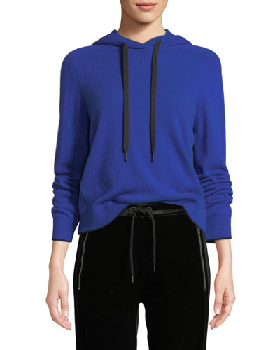 Yorke Cashmere Mesh Pullover Hoodie