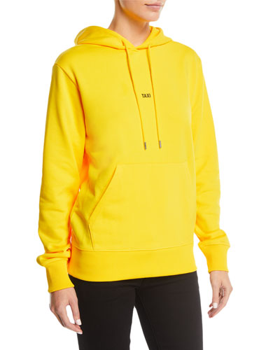 Taxi Graphic Cotton Pullover Hoodie