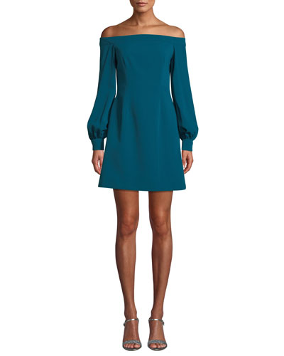 173ae5d5ae5e Quick Look. Jill Jill Stuart · Crepe Off-the-Shoulder Long-Sleeve Dress
