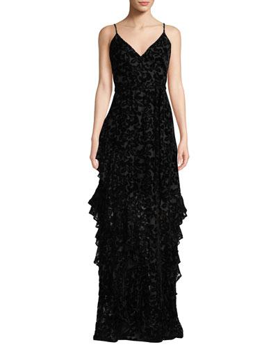 Sleeveless Burnout Dress w/ Ruffle Skirt