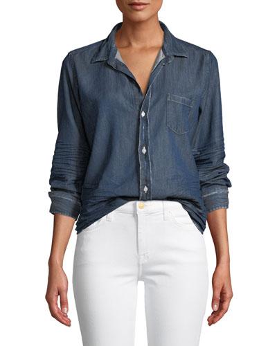 34ad6f2ff41 Denim Shirttail Shirt