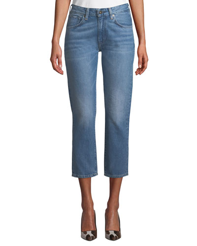 Slim Cropped Straight-Leg Jeans