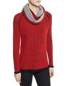 Lisa Todd Plus Size Chain Stitch Cashmere Sweater