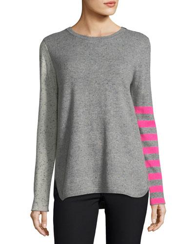 Petite Pop Rocks Cashmere Striped Sweater
