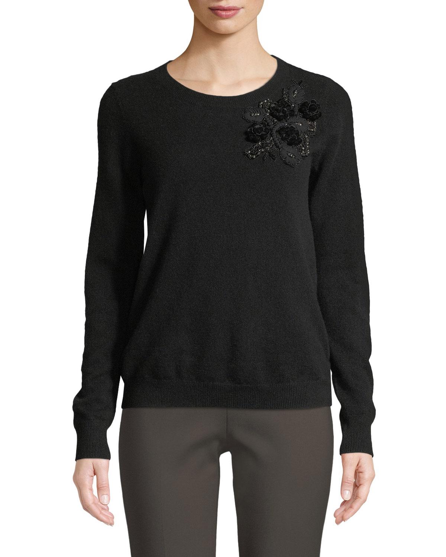 Cashmere Sweater w/ Embellishments