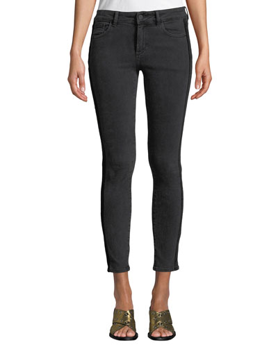 Margaux Side-Stripe Instasculpt Skinny Jeans