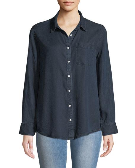 DL1961 Premium Denim Nassau & Manhattan Lace-Up Button-Front Shirt