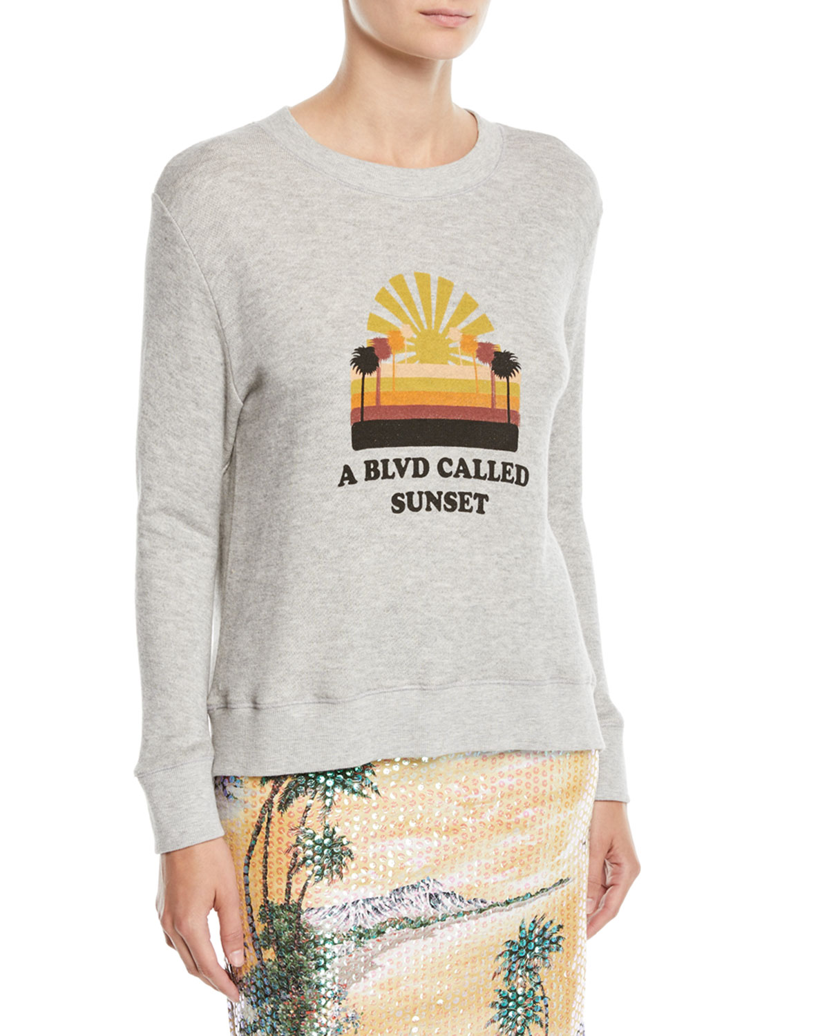 LE SUPERBE Bay St. Graphic Pullover Sweatshirt in Sunset Blvd
