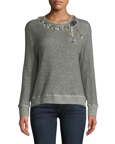 The Eye Embellished Crewneck Sweatshirt