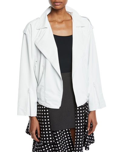 Reflective Zip-Front Biker Jacket