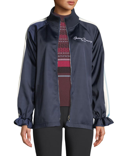 413f024554656 Zip-front Track Jacket | Neiman Marcus