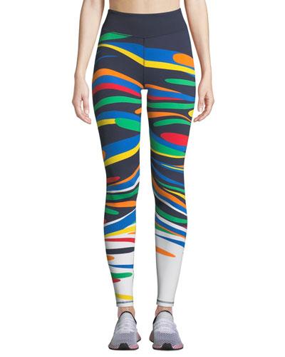 Splash Printed Performance Leggings
