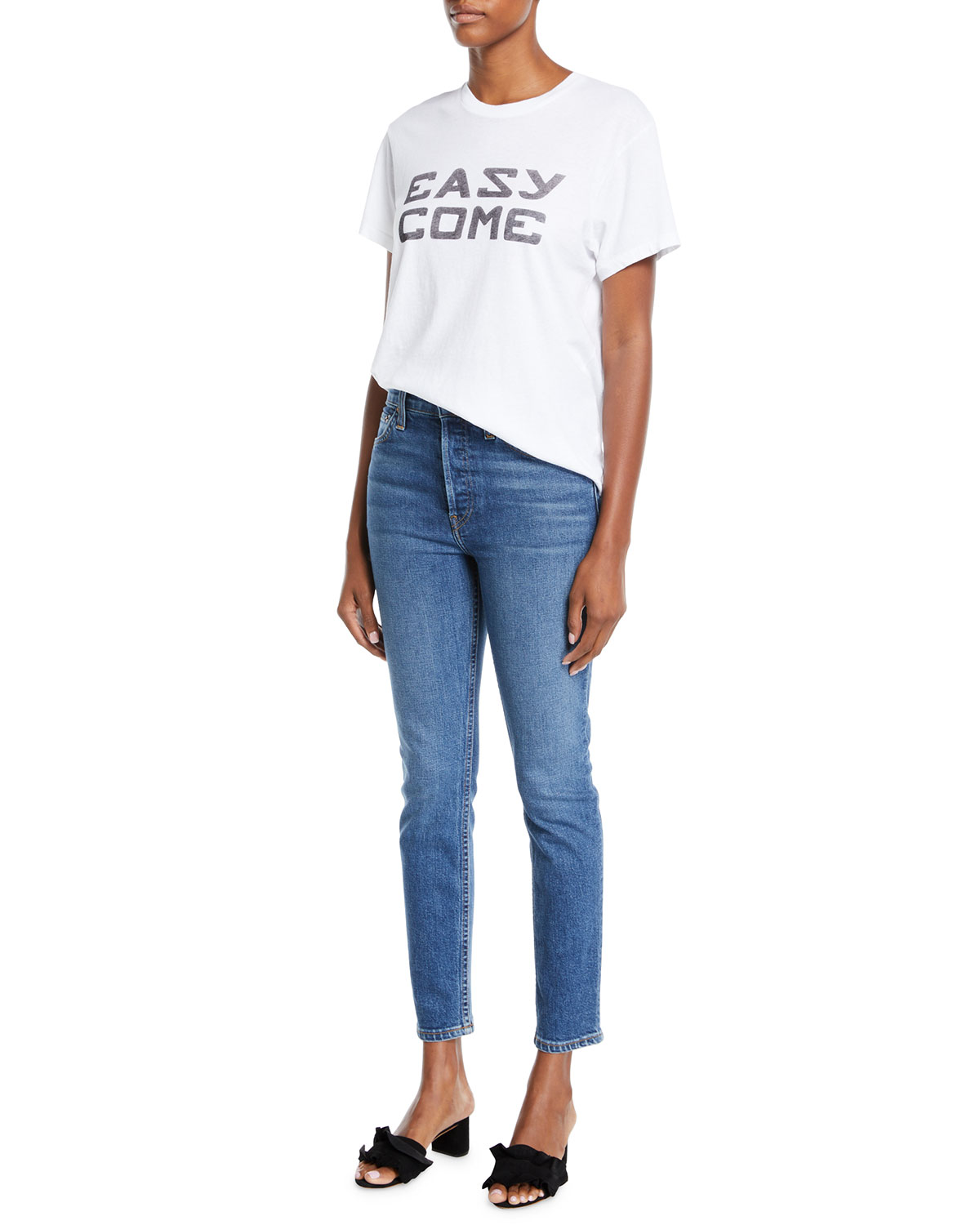 Re/done Jeans HIGH-RISE SKINNY ANKLE CROPPED JEANS