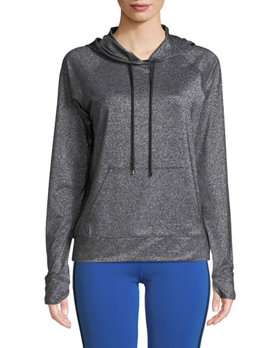 Jarvis Hooded Metallic Pullover Sweatshirt