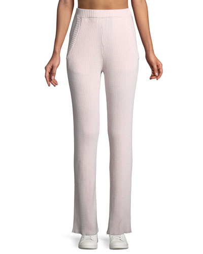 Wide-Leg Performance Cashmere Pants