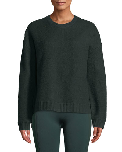 Droptail Wool Pullover Sweater