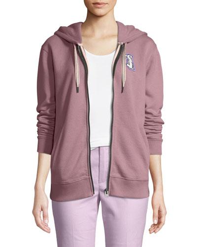 x Selena Gomez Bunny Zip-Front Hooded Sweatshirt