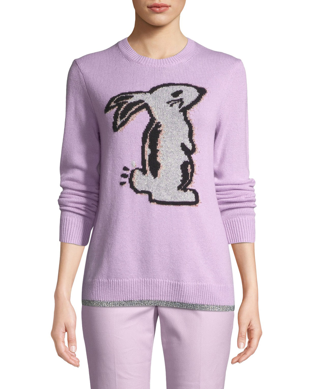 x Selena Gomez Bunny Intarsia Pullover Sweater