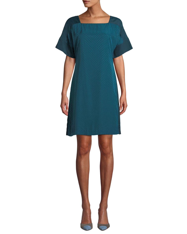 Archmand Dot-Print Shift Dress