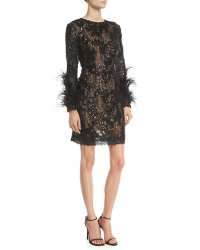 Black Lace Dress Neiman Marcus