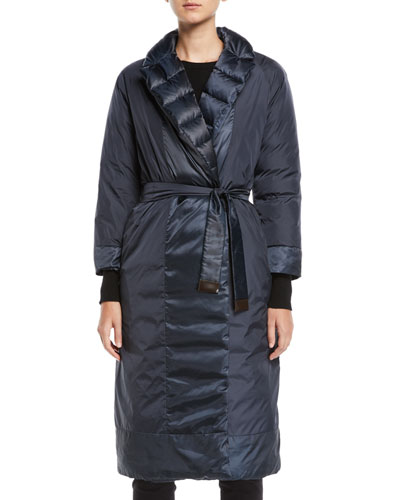 Here is the Cube Collection Noveco Reversible Long Taffeta Jacket w/ Travel ...