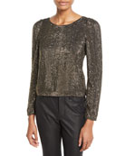 Joie Bailyn Studded Long-Sleeve Top