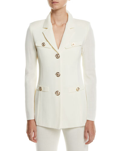 Plus Size Dressed Up Button-Front Jacket