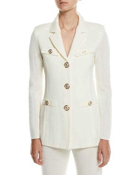 Misook Plus Size Dressed Up Button-Front Jacket