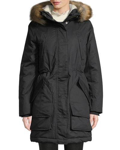 Insulated Parka w/ Detachable Faux Fur Trim