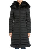 Hunter Boot Refined Puffer Coat w/ Faux Fur