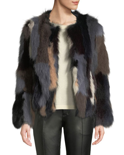 a86ad4b4a7c Quick Look. Belle Fare · Multicolor Fox Fur Jacket