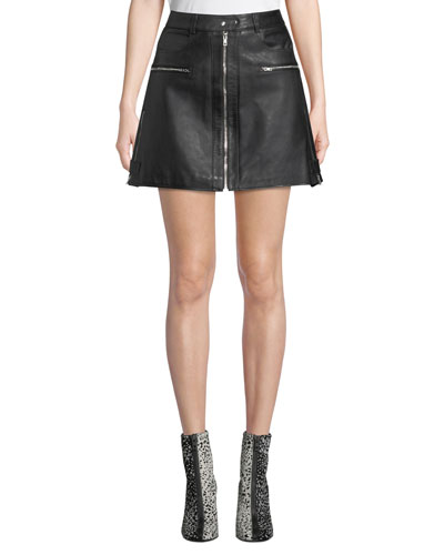 7341e0c884 Quick Look. 7 For All Mankind · Leather Biker Mini Skirt