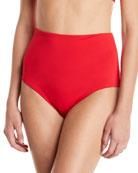 Mara Hoffman Lydia High-Waist Solid-Color Bikini Bottoms