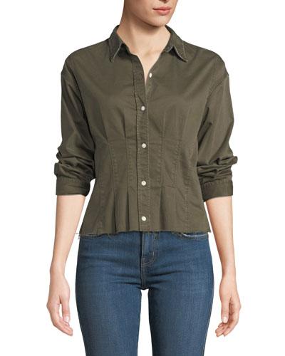 e5b9ec90311dd3 Quick Look. Current Elliott · The Tella Pintucked Button-Front Shirt