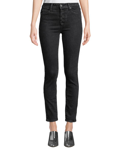 9d982abf0a52 Quick Look. PAIGE · Hoxton Ankle Skinny Jeans with Button Fly. Available in  Black