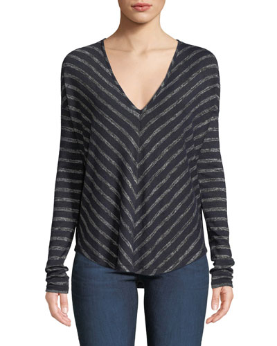 Hudson Striped Long-Sleeve T-Shirt