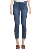 Hudson Nico Mid-Rise Cropped Skinny Jeans with Pierced