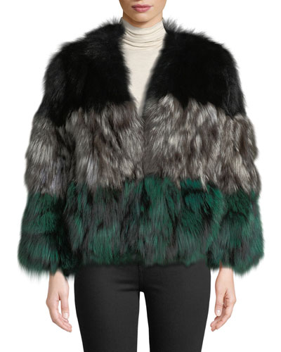 6f7d90184b81 Quick Look. Adrienne Landau · Multicolor Fox Fur Jacket