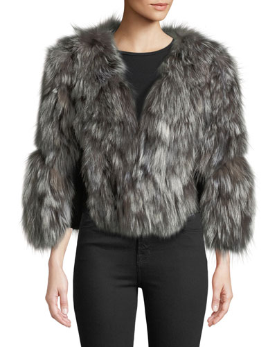 b00af0e0389 Quick Look. Adrienne Landau · Fox Fur Jacket ...