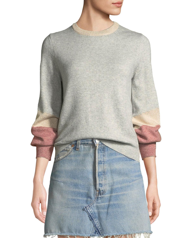 Greenville Bishop-Sleeve Crewneck Sweater