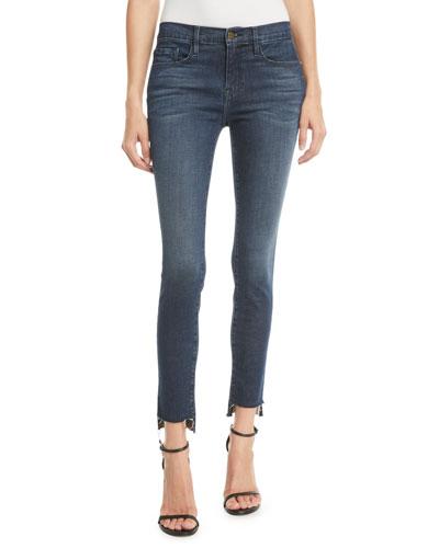 Le Skinny De Jeanne Raw Stagger-Hem Skinny Jeans