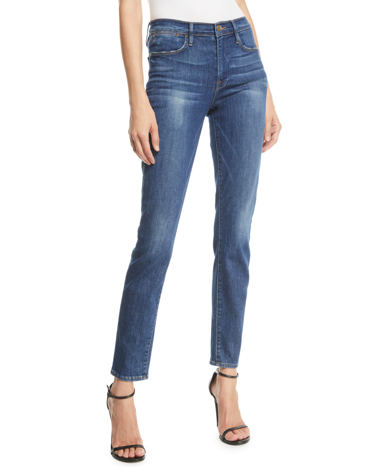 Frame Jeans LE HIGH SKINNY STRETCH ANKLE JEANS