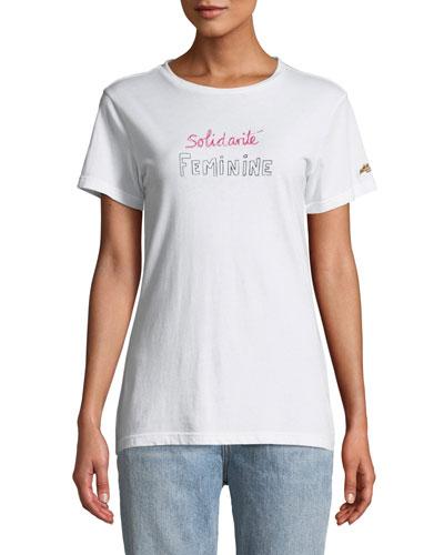 Solidarite Feminine Graphic Crewneck Tee