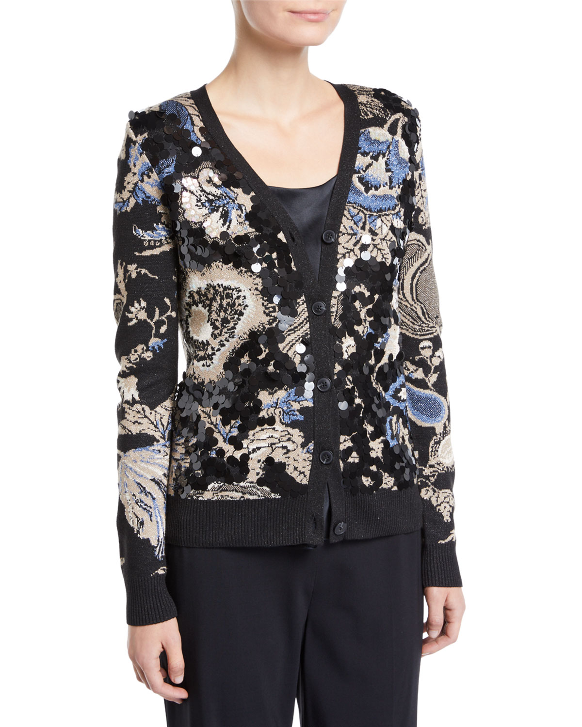 Giselle Sequined Print Cardigan