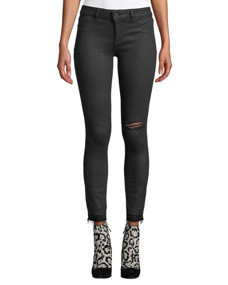 DL1961 Premium Denim Margaux Instasculpt Ankle Skinny Jeans with Raw Hem