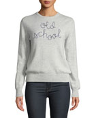 Lingua Franca Old School Embroidered Cashmere Sweater
