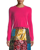 Alice + Olivia Ciara Long-Sleeve Cropped Pullover