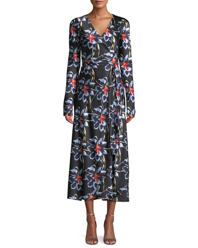 Silk floral dress neiman marcus quick look mightylinksfo